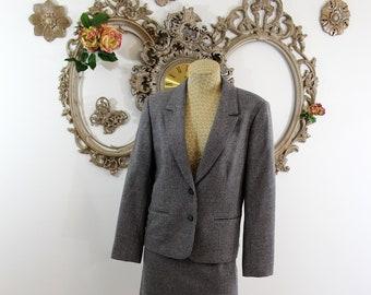 Vintage woman's Pendleton tweed suit.
