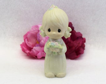 Precious Moments Flower Girl Keepsake 1983 Junior Bridesmaid designer Stanley J Butcher Collectible figurine