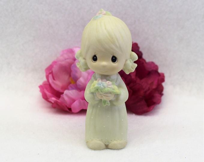 Precious Moments Flower Girl Keepsake 1983 Junior Bridesmaid designer Stanley J Butcher Collectible figurine