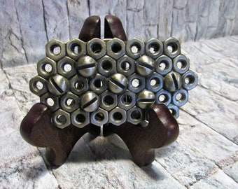 Vintage Nuts and Bolts Belt Buckle 1976 MM Limited