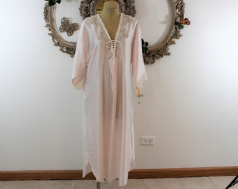 Christian Dior Nightgown with original tags.  Dead stock Christian Dior lingerie.  Pink Vintage Nightgown circa 1980's.