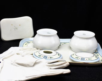 Art Deco porcelain  dresser set manufactured by Weimar Germany.