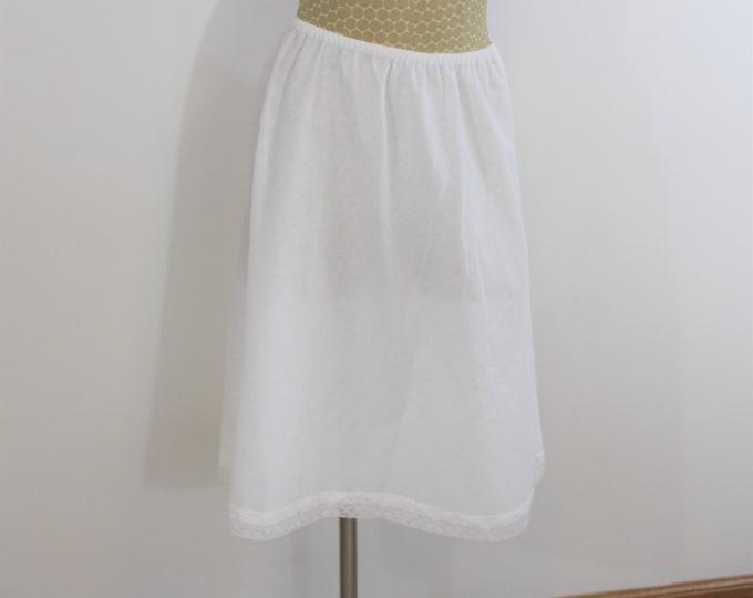 Cotton Half Slip by Barbizon Modern size S to M  vintage tag size L Large 25.