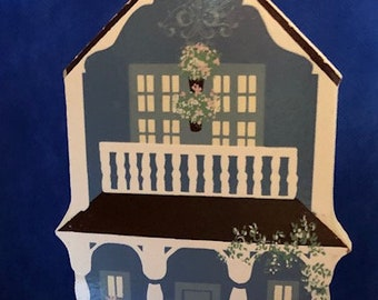 Sheila's House collectible. Vintage Victorian house.