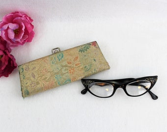 Vintage 1960's eyeglass case.  Grandmas eyeglass case.  Glasses NOT included.