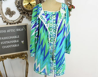 Vintage Emilio Pucci for Formfit Rogers robe and gown set.