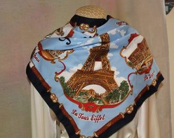 Vintage Roger L Paris souvenir of France scarf.