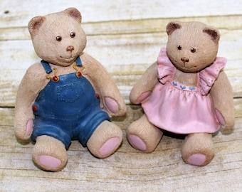 Debby Rubis 1985 teddy bears, Mandy and Andy bears.