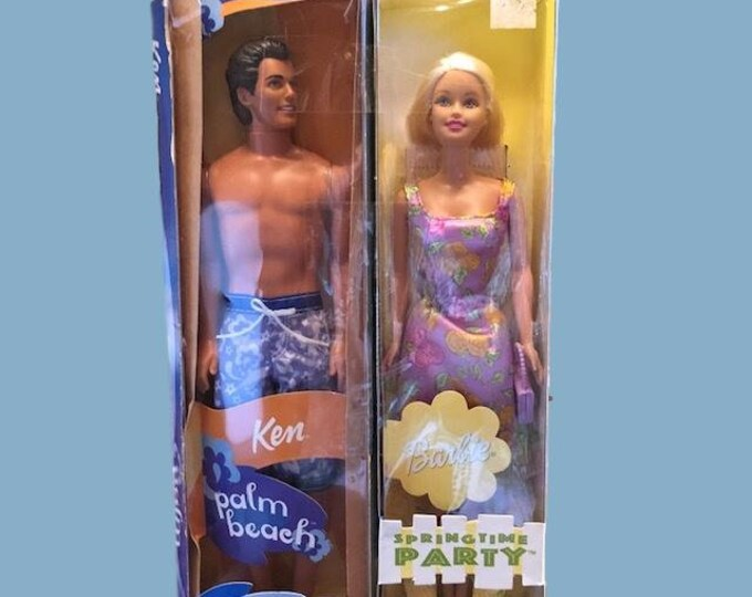 Barbie Spring time party and Ken Palm beach. Not used in original packaging.