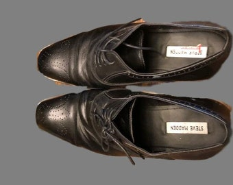 Men's black oxford shoes in size 13 by Steve Madden  Never worn.