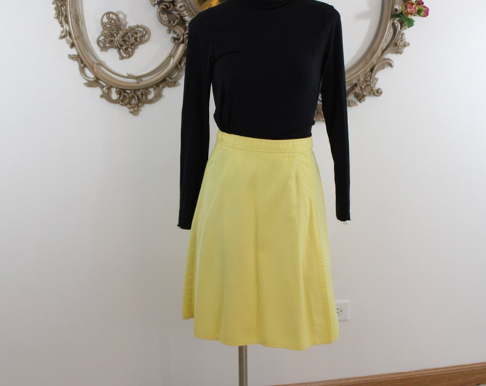 Yellow Wrap Skirt by Bronson of California with Tie waist vintage size 9-10.