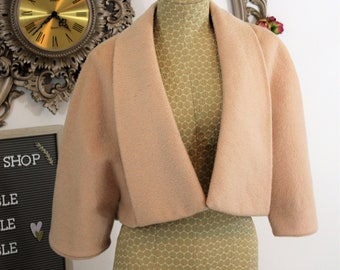 1940's wool caplet cropped jacket.  Vintage Condition  Theater Costume.