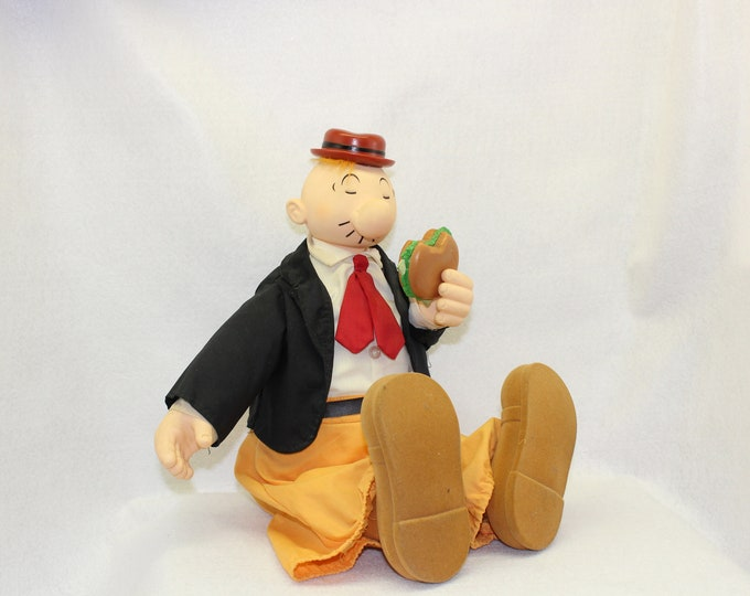 Vintage Wimpy doll.  Wimpy will gladly pay you Tuesday for a hamburger today!