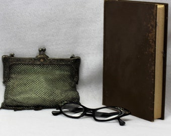 German Silver chain hand bag vintage 1920's era. Lovingly cared for.