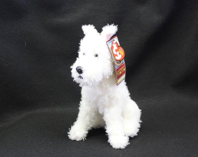 Ty Beanie Baby - SNOWY the Dog (The Adventures of TinTin)