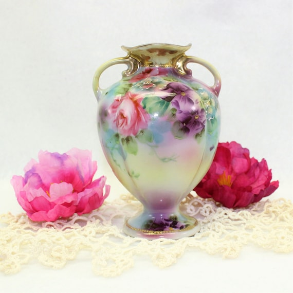 Vintage Nippon Hand Painted Vase This Small Antique Vase Is Etsy
