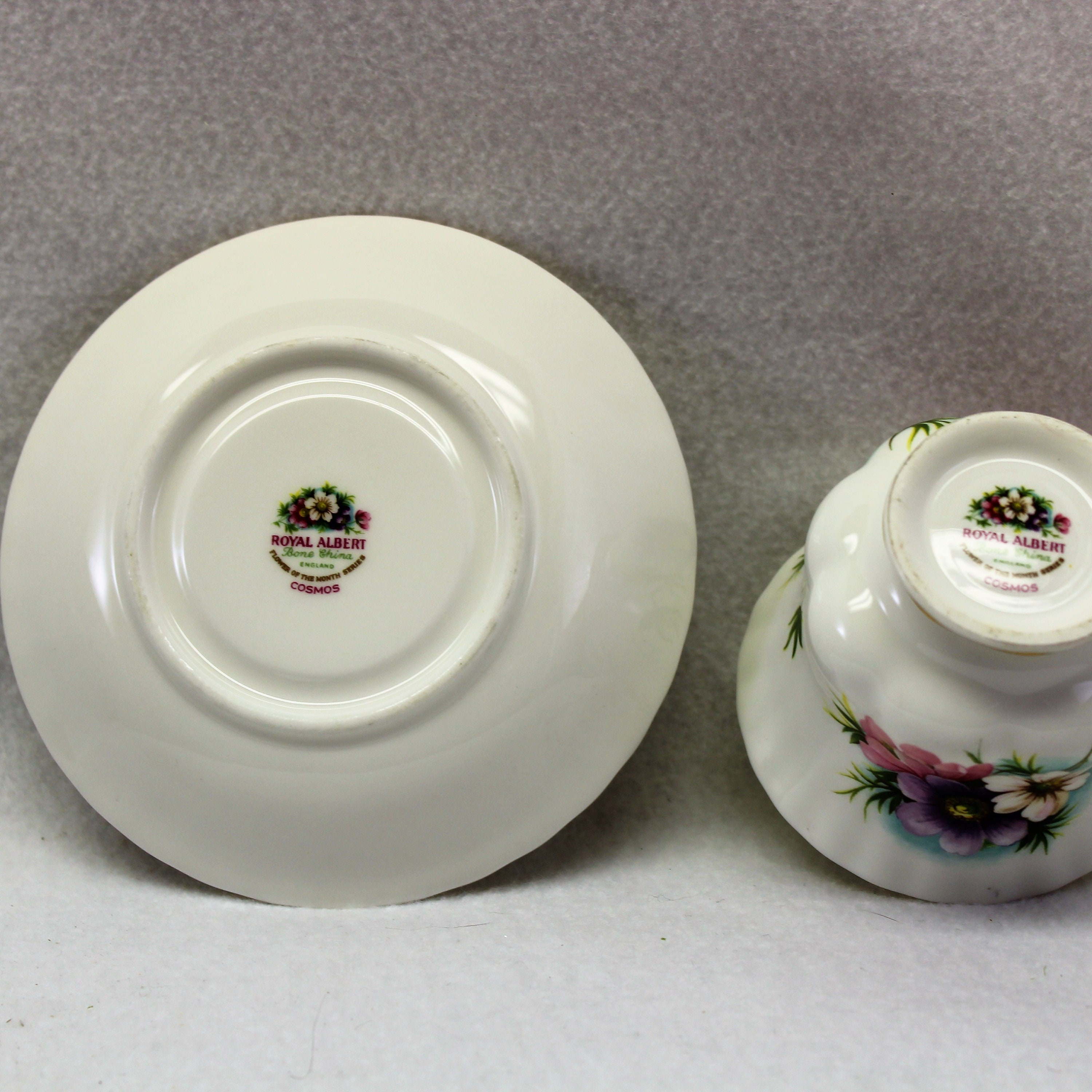 Royal Albert Flower Of The Month Tea Cup October Cosmos Bone China