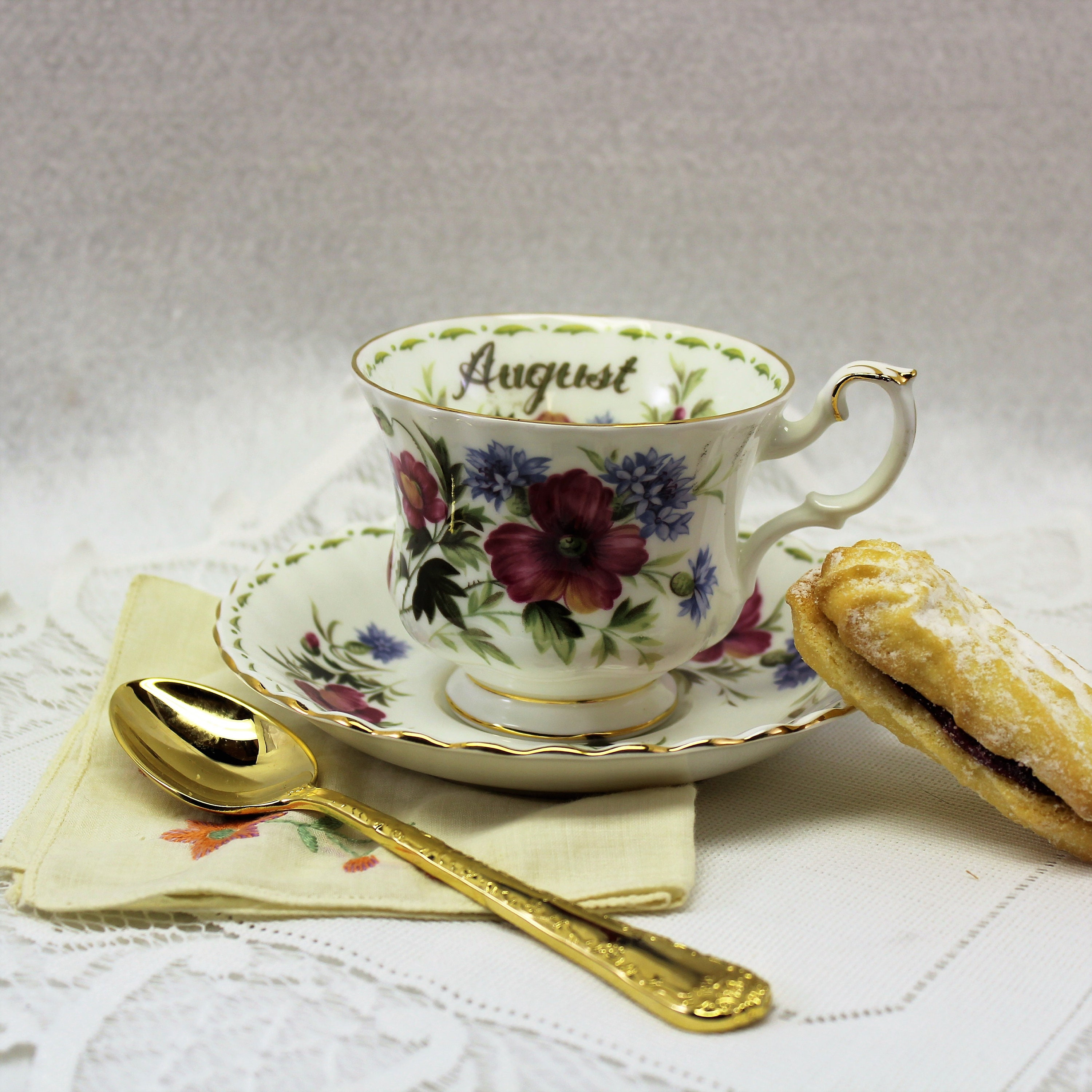 Royal albert flower of the month tea cup august poppy tea cup and shipping to free izmirmasajfo
