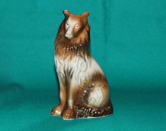 Collie Figurine  Dog Perro  Figurine  Dog Statue  Collie Statue  Man's Best Friend   Lassie Dog  Vintage Collie