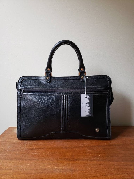Vintage 70s, 1970s leather briefcase, preppy, leat