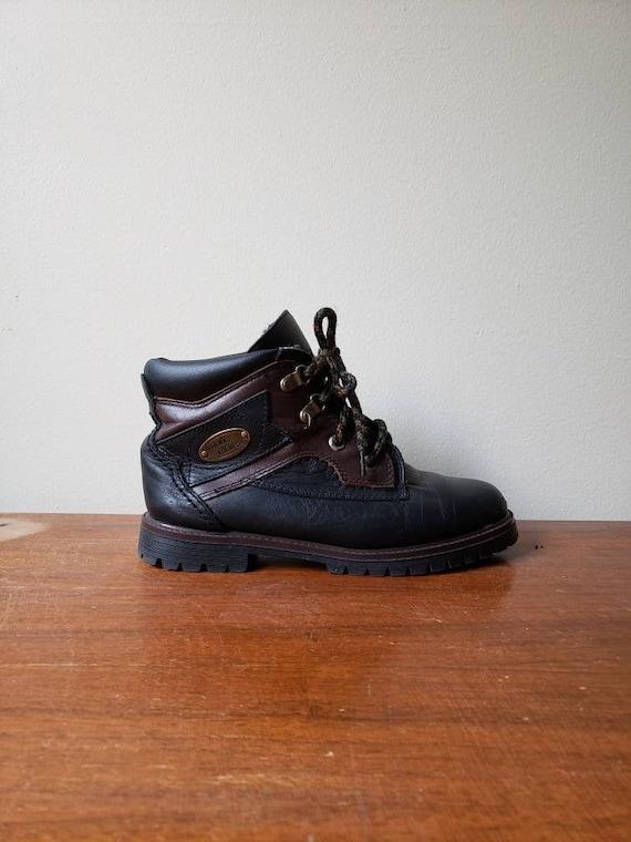 Vintage 90s, 1990s vintage leather ankle boots, la