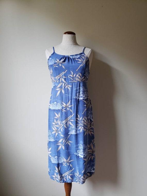 Vintage 90s Hawaiian tropical print beach dress  