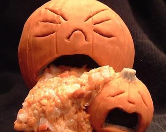 Sculpey Barfing Pumpkin