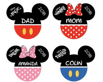 Personalized Disney Inspired Mickey Mouse Magnet. Handmade Disney Cruise Door Classic Magnet. Head Magnets for Disney Cruise