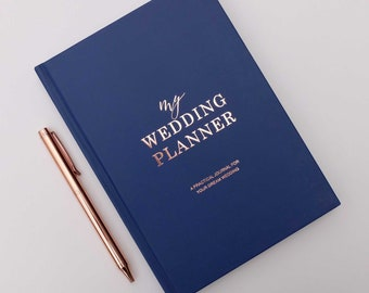 luxury marble wedding planner book engagement gift for etsy