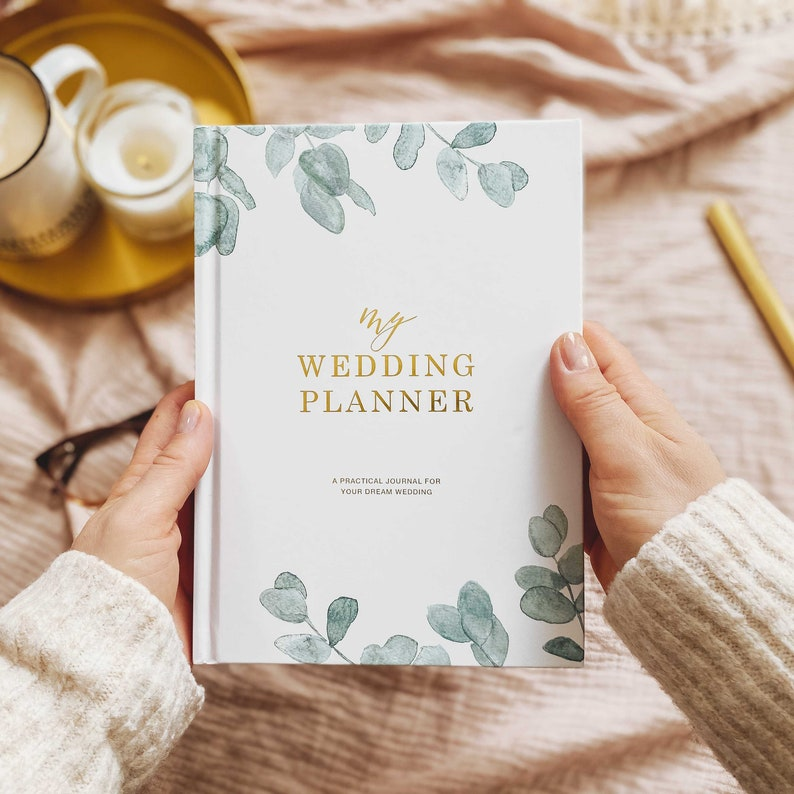 Luxury wedding planner book engagement gift for brides image 0