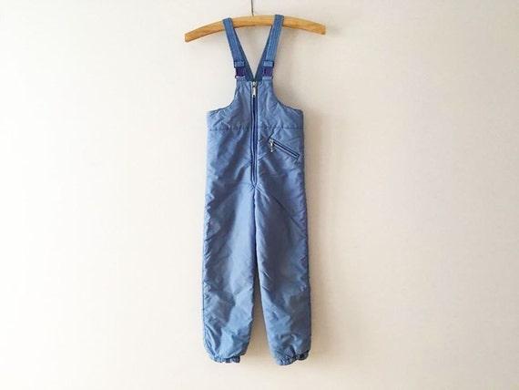90s Blue Boys Ski Pants Snowsuit One Piece Ski Suit Hipster | Etsy