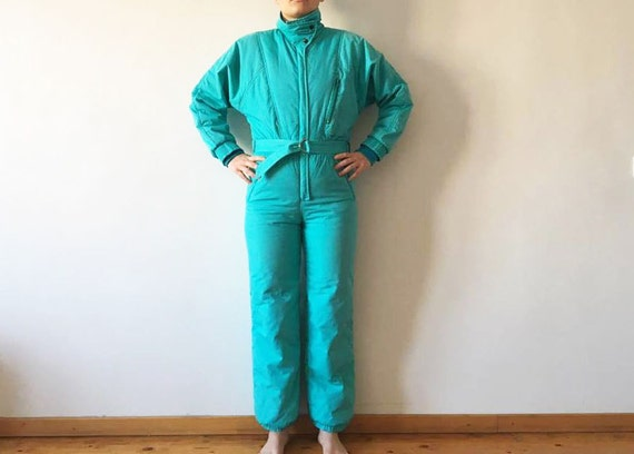 One Piece Green Size Jumpsuit 90s To Pants Snow Snow Gear Green Wear Small Winter Snowsuit Mint Ski Suit Hipster Outdoor 80s Medium Retro UEqIxtWE
