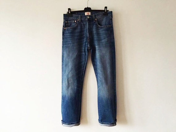 vintage 501 jeans hommes bleus highwaist jeans levi strauss etsy. Black Bedroom Furniture Sets. Home Design Ideas