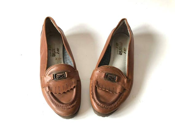Vintage 90s Brown Women's Leather Golf