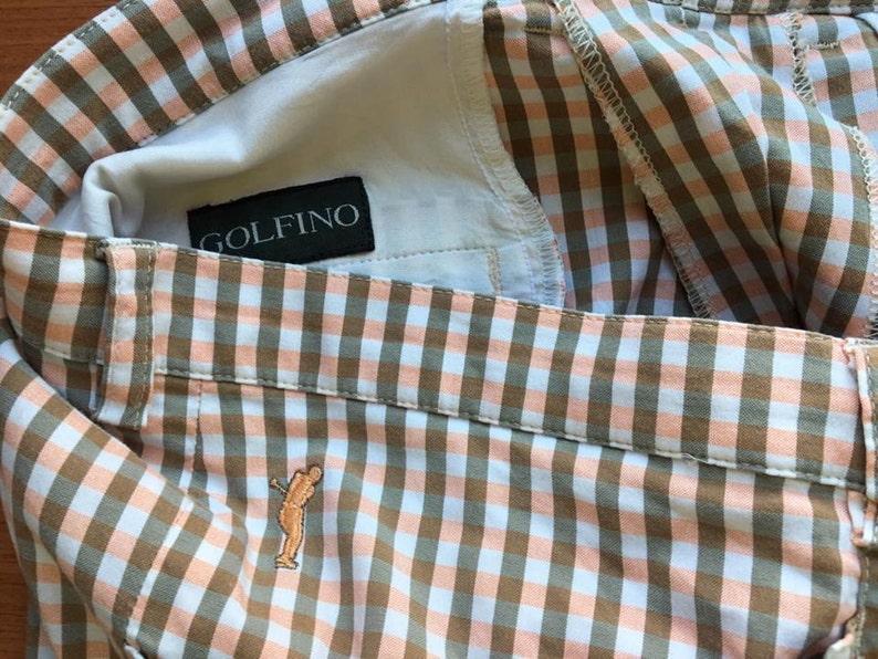 dd3f302f0b4d4 Pastel Beige Brown Plaid Pants Beige Brown Plaid Golfer Trousers Checkered  Golf Slacks Plaid Brown Formal Size XL Large Plaid Golf Pants