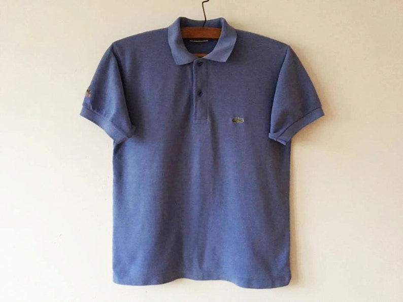 ca358f3b35323 Vintage Light Blue Lacoste Polo Shirt Short Sleeve Summer