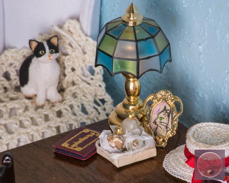 Miniature Decanters Cream Beige & Gold  Dollhouse image 0