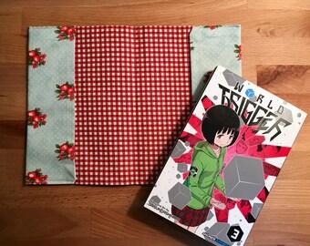 manga book cover // handmade fabric book cover