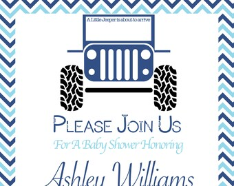 Jeep Baby Shower Invites!