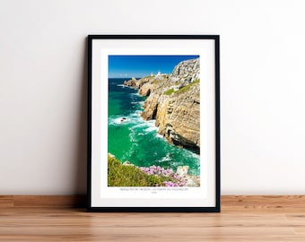 Poster THE POINTE of TOULINGUET, Crozon Peninsula, Finistère, Brittany. Printed on satin paper 250 g/m2.