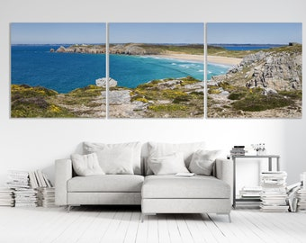 """Triptych """"L'Anse de Pen-Hat"""", Crozon Peninsula, Brittany, prints on canvases mounted on frames. FAG0473"""