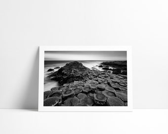 Giant's Causeway, Northern Ireland, Fine Art Drawing signed and numbered