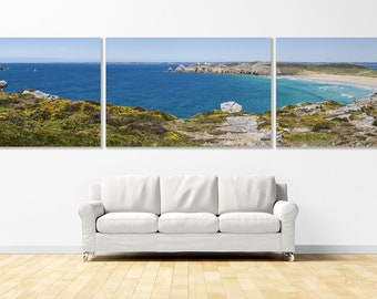 """Triptych """"L'Anse de Pen-Hat"""", Crozon Peninsula, Brittany, prints on canvases mounted on frames. FAG0406"""