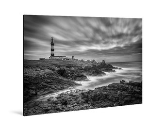Art print laminated on Alu-Dibond. The Créac'h Lighthouse, Ouessant, Finistère, Brittany. FAG0518