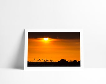 Dinner at the sunset, Fine Art print signed and numbered