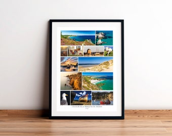 Colors poster of CROZON PRESQU'IS, Finistère, Brittany. Printed on satin paper 250 g/m2.