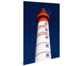Art print laminated on Alu-Dibond, Le Phare Saint-Mathieu, Finistère, Brittany. FAG0042