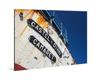 Art print laminated on Alu-Dibond, Castel-Dinn, Camaret-sur-Mer, Crozon Peninsula, Finistère, Brittany. FAG0026