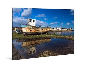 Art print laminated on Alu-Dibond, Le Fret, Crozon Peninsula, Finistère, Brittany. FAG0063