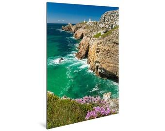 Art print laminated on Alu-Dibond, La Pointe du Toulinguet, Crozon Peninsula, Finistère, Brittany. FAG0242